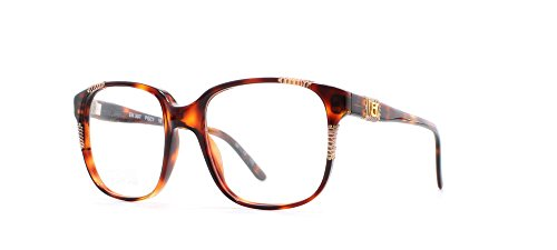 909075d9928 Emmanuelle Khanh 507 PGC1 18 Brown Square Certified Vintage Eyeglasses Frame  For Womens