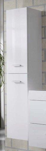 SAM® Badmöbel-Set 3-tlg, Hilo, hochglanz weiß, Softclose Badezimmermöbel, Badezimmermöbel, Doppelwaschplatz 120 cm Mineralgussbecken, Spiegel, Hochschrank - 3