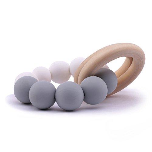 Best for baby Armband Silikon Zahnen Holzring Hölzerne Greiflinge Baby Beißring Sinnesspielzeug Wiege Spielzeug