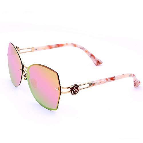 Klassische, übergroße Sonnenbrille mit polarisierten Gläsern für Frauen. 100% UV400-Schutz Cutaway,Pink