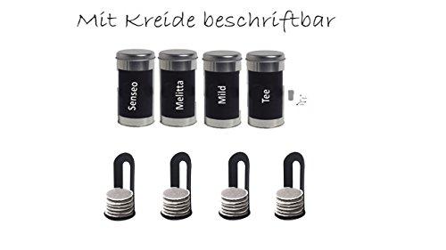 Metalldose Kaffeedose Dose Rund für Kaffeepads C + 4 Padheber …