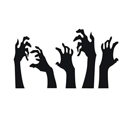 Ruiboury Halloween-Geist-Handwandaufkleber Tattoo-Aufkleber-Raum Schlafzimmer Interiors Bar Diskothek PVC-Tapeten -