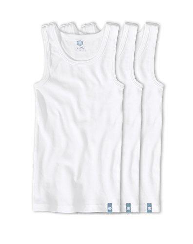 Sanetta Jungen Unterhemd 3er Pack 300000 weiss Größe 152