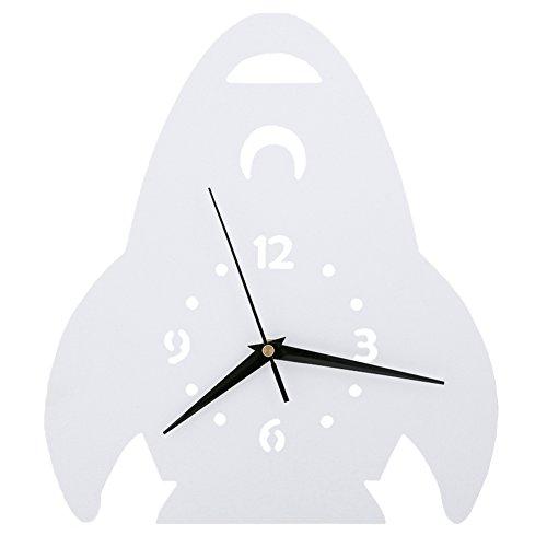 Fusée Horloge murale Chambre d'enfant Chambre Horloge silencieuse Belle Famille Décoration Boutique