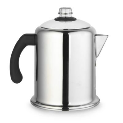 Lakeland Retro Stainless Steel Stovetop Coffee Percolator - Makes 4-8 Cups