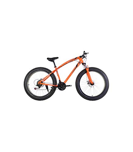 Riscko Fat Bike Bicicleta Todo Terreno Bep-011 Cambio Shimano Naranja Fluor