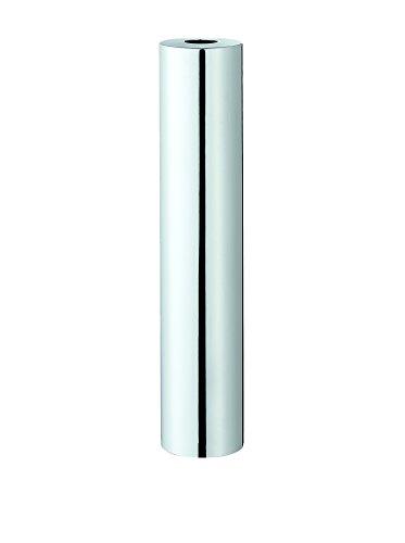 Philippi Base Vase L, Edelstahl, Silber, 10 x 10 x 50 cm