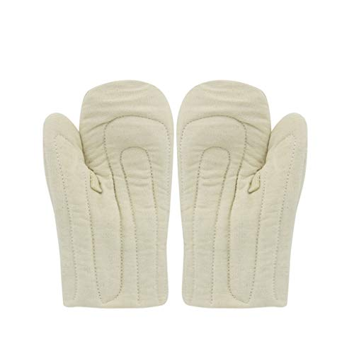 NJ Handschuh- Hochtemperaturhandschuhe verdickten isolierte Handschuhe (Farbe : Beige, größe : 27.5x15.5cm)