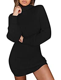 Amazon.it  Maglioni Lunghi Donna - Nero   Vestiti   Donna  Abbigliamento ff2ca769a76