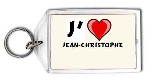 J'aime Jean-Christophe Porte Clé (Noms/Prénoms)