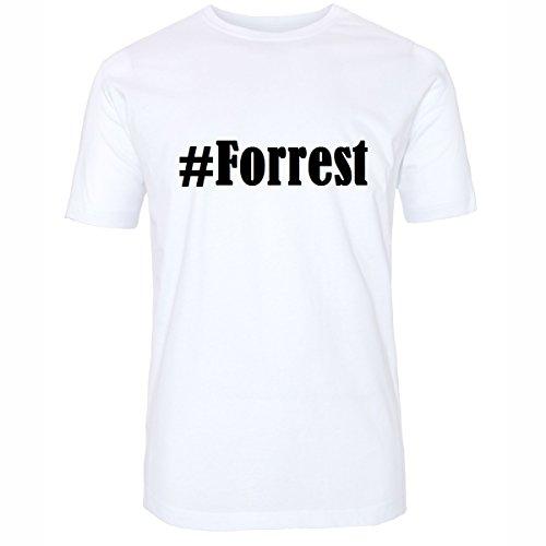 T-Shirt #Forrest Hashtag Raute für Damen Herren und Kinder ... in den Farben Schwarz und Weiss Weiß
