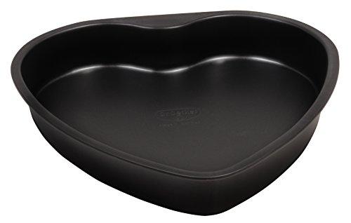 Dr. Oetker Herz-Backform mit Auslaufschutzboden Ø 25 cm, Kuchenform mit Flachboden, herzförmige & auslaufsichere Backform aus Stahl mit Antihaftbeschichtung, Menge: 1 Stück