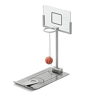 Aidle Mini Juguete de Baloncesto de Escritorio de Metal, Plegable Juguete Portátil, Juego de Baloncesto para Niños…