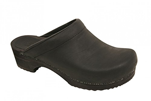 Sanita Wood-Christian open 1200009M-78, Chaussures homme - Schwarz (black 2
