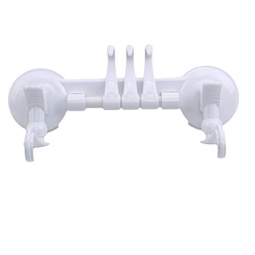 L_shop Saugnapf Handtuchhalter Schiebehaken Bohrerfrei Hängender Handtuchhalter Küchenlappenhalter, weiß -