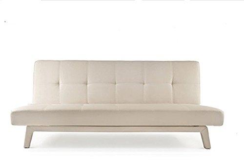 Divano Letto Bianco Ecopelle : Frizzo divano letto 180x80cm ecopelle 3 posti reclinabile bianco