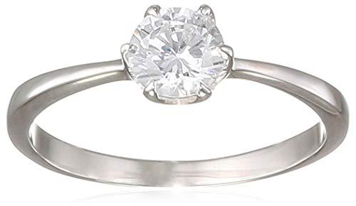 Elli Damen Ring Solitärring mit Zirkonia Steinen im Brillantschliff weiß in 925 Sterling Silber