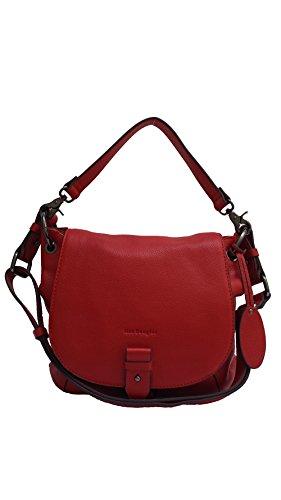 Sac porté épaule Mac Douglas Mandalay taille XS en cuir avec bandoulière pour femme rubis