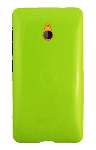 Emartbuy® Value Packfür Microsoft Lumia 640 XL 3G 4G LTE / Lumia 640 XL 3G 4G LTE Dual Sim LCD Displayschutz + Glänzend Gloss Gel Skin Tasche Hülle Grün + Kompatible Micro USB KFZ Ladekabel