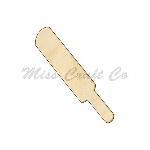 Rea66de Test_Cricketschläger aus Holz, Handwerksform, unlackiertes Holz