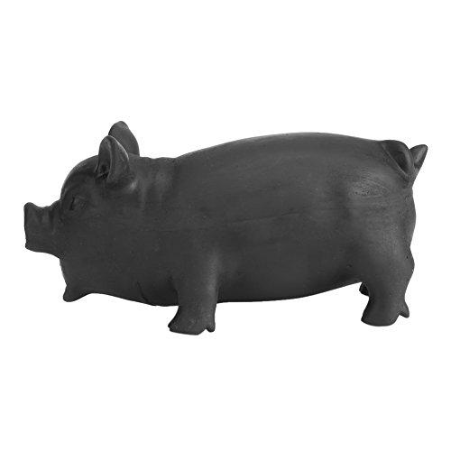 Juguete de Mascota, Juguete suave de perro de látex Juguete de juguete de cerdo Mascota Funny Puppy sonido mordedura mordedura de juguete con cerdo realista Grunting Sonido Niños Niños Suministros de (L-Negro)
