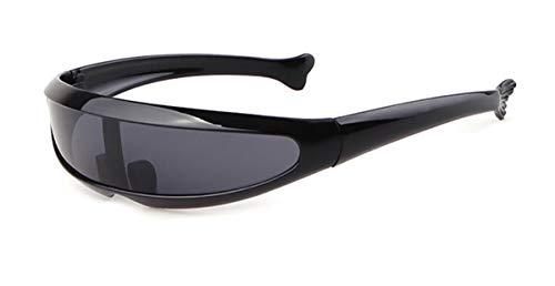 Hemio Herren Sonnenbrille Farbfilm Sonnenbrillen Neu Outdoor-Brille Verspiegelt Autobrille Anglerbrille Moda Winddicht Platz Alien Persönlichkeit