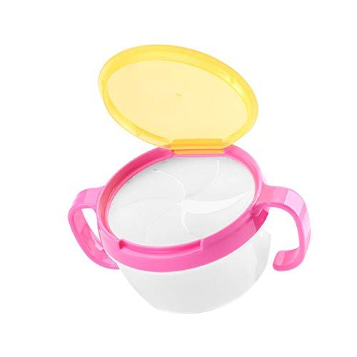 Luckiests Baby-Kind-Kleinkind-Snack Catcher mit doppeltem Griff Snack Cup Jar Schüssel spritzwassergeschützte Biscuits Container Box