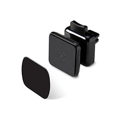 Celly Ghost Plus Supporto da Auto per Smartphone con Fissaggio Magnetico, Nero