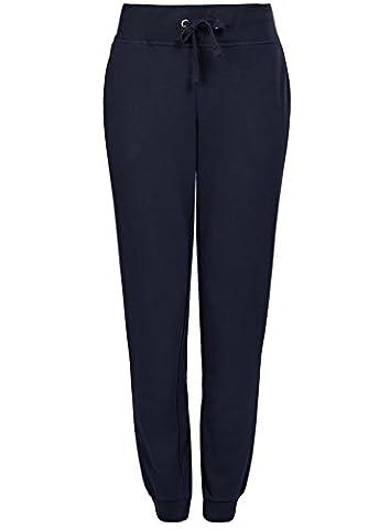 oodji Ultra Femme Pantalon de Sport en Maille, Bleu, FR