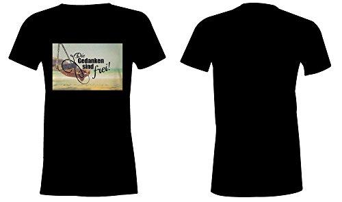 ... Die Gedanken Sind Frei 5 ☆ Rundhals-T-Shirt Frauen-Damen ☆ hochwertig