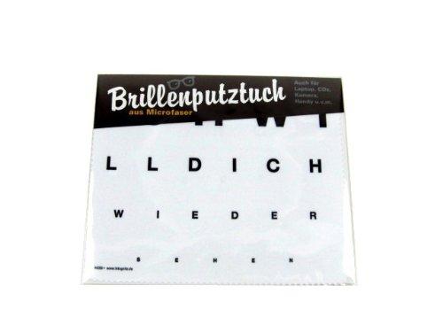 Brillenputztuch 17 x 15 cm • 44256 ''Ich will Dich wieder sehen'' von Inkognito • Künstler: INKOGNITO © Martin Scheffler