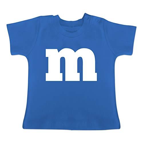 Karneval und Fasching Baby - Gruppen-Kostüm m Aufdruck - 3-6 Monate - Royalblau - BZ02 - Baby T-Shirt Kurzarm (Kostüm Für Gruppen Von Drei)