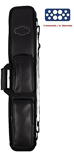 Queue-Tasche BUFFALO für 4 Unterteile /8 Oberteile Farbe SCHWARZ