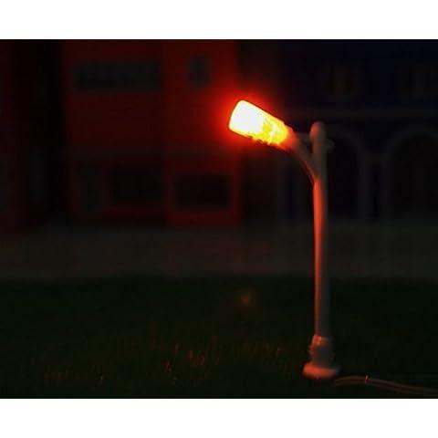 10PCS MODEL TRAIN GARDEN/PARK/STREET LIGHTS WHITE LAMP