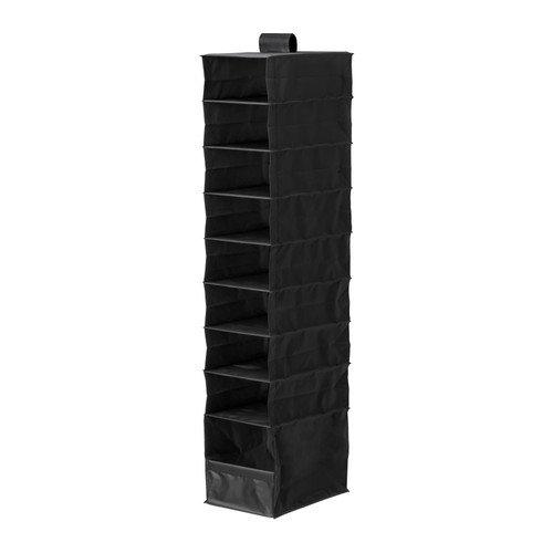 SKUBB-schwarz-100-Polyester-zum-Aufhngen-Regalen-Aufbewahrungsbox-mit-9-Fchern-22-x-34-x-120-cm