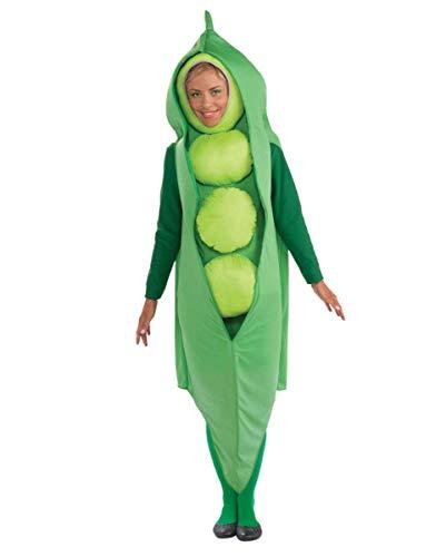 Horror-Shop Reifes grünes Erbsen Unisex Kostüm für Gruppen am Straßenkarneval