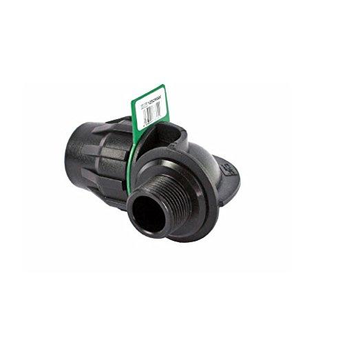 SYR Brico Fitting – Coude 90 ° Filetage mâle, 9 x 6 x 7 cm, Couleur Noir