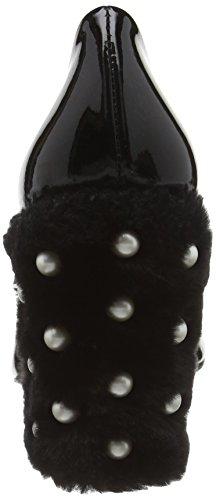 Moschino Damen Scarpad Lina100 Ambra+fur Nero Pumps Black (black 200a)