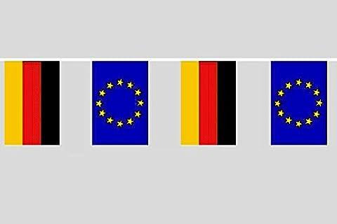 U24 Flaggenkette Deutschland - Europa 10,40 m Fahne Flagge Fahnenkette Freundschaft