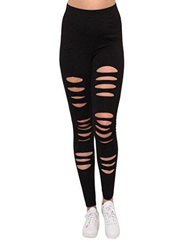 Leggings Deporte Mujer Cintura Alta Mosstars Fashion Sexy Leggings Pantalones  Yoga Sport Hole Pantalones Casual Pantalones ebbb61ff356