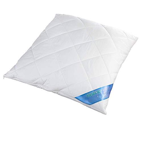 Schlafmond Medicus Clean Allergiker Kopfkissen 80x80 cm, Komfortkissen mit anpassbarer Füllmenge, bis 95 Grad waschbar