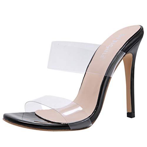 XNBZW Transparente Absatzschuhe Stilettos Party High Heel Schuhe Hausschuhe Damenmode