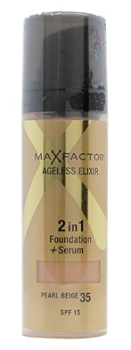 Max Factor Ageless Elixir 2-In-1 Beige Foundation and Serum, 30 ml