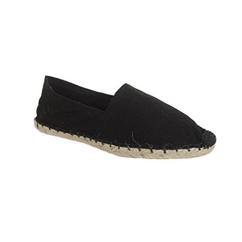 ESPANDRILLOS Chaussures de Soleil Noir Taille Espadrilles Espas Espandrilles 36-46 Noir - Noir - Noir, 41 EU