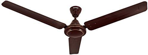 Amazon Brand - Solimo Swirl 1200mm Ceiling Fan (Brown)