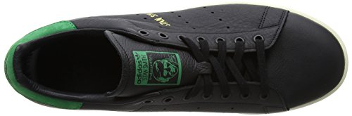 adidas Herren Stan Smith Sneaker Schwarz (Core Black/Core Black/Green)