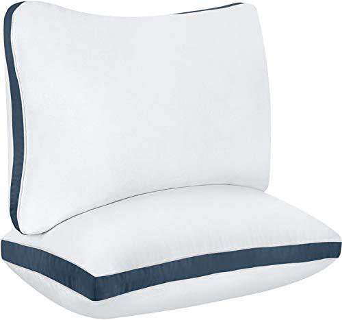 Utopia Bedding Almohada de algodón Paquete de 2 - Almohada Suave hipoalergénica y de fácil Cuidado...