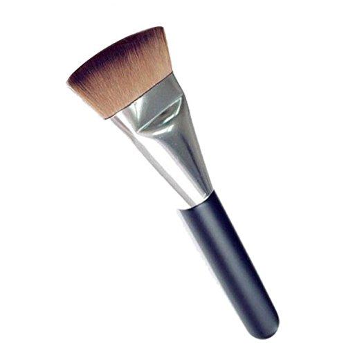 Pinceau Maquillage Fond de Teint Brosse Cosmétique Multifonctionnelle Maquillage Brosse Marron Pinceau Poudre BB