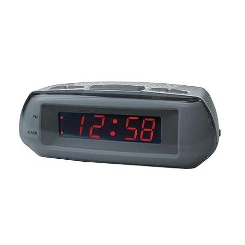 Acctim 14017 Metizo Alarm Clock, Grey