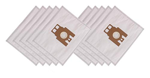 Hooster 10 Stück Staubsaugerbeutel passend für Miele S 762 / S762 / S.762 / S/762 / S-762 Elmatic/mit Zusatzfiltervlies